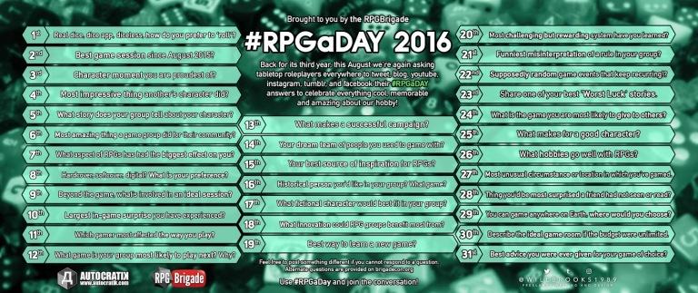 RPGaDay 2016